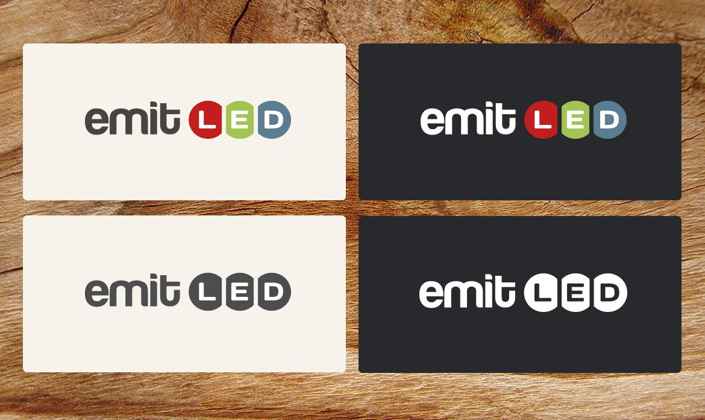 EmLED logo design and website